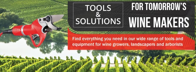 Vineyard/orchard accessories − Vine trellising, staking equipment, bird control netting, and Hibertex Pro winter row covers. Precision irrigation system for optimal fruit yield or frost protection. Plastic containers, lugs, and bins for grape/apple harvest and storage.
